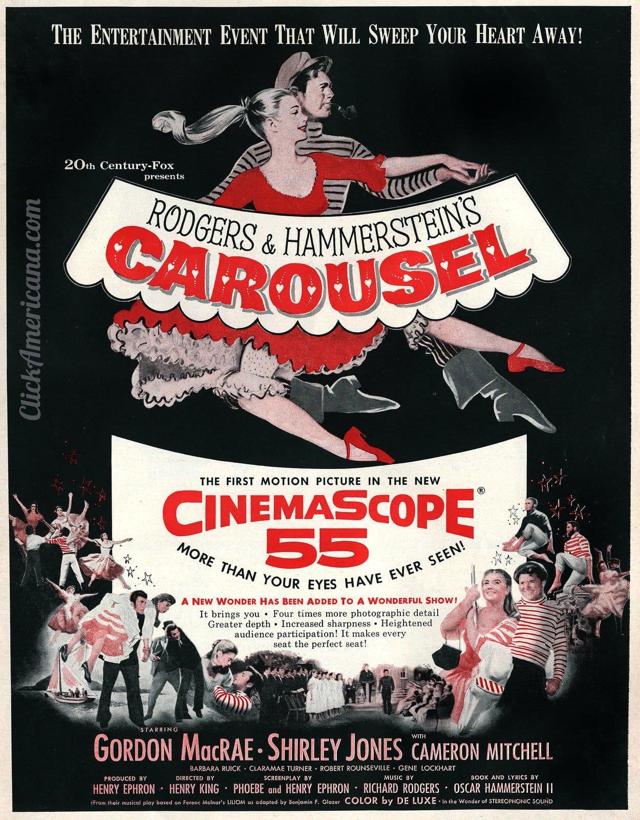 Vintage Carousel movie ad (1956)