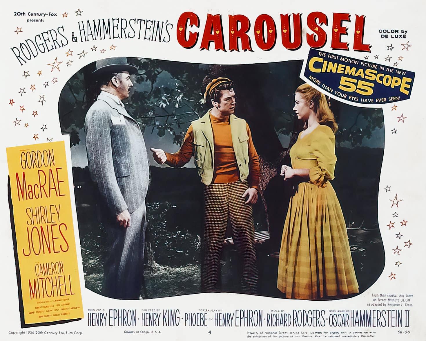 Vintage Carousel movie lobby card - 1950s (1)