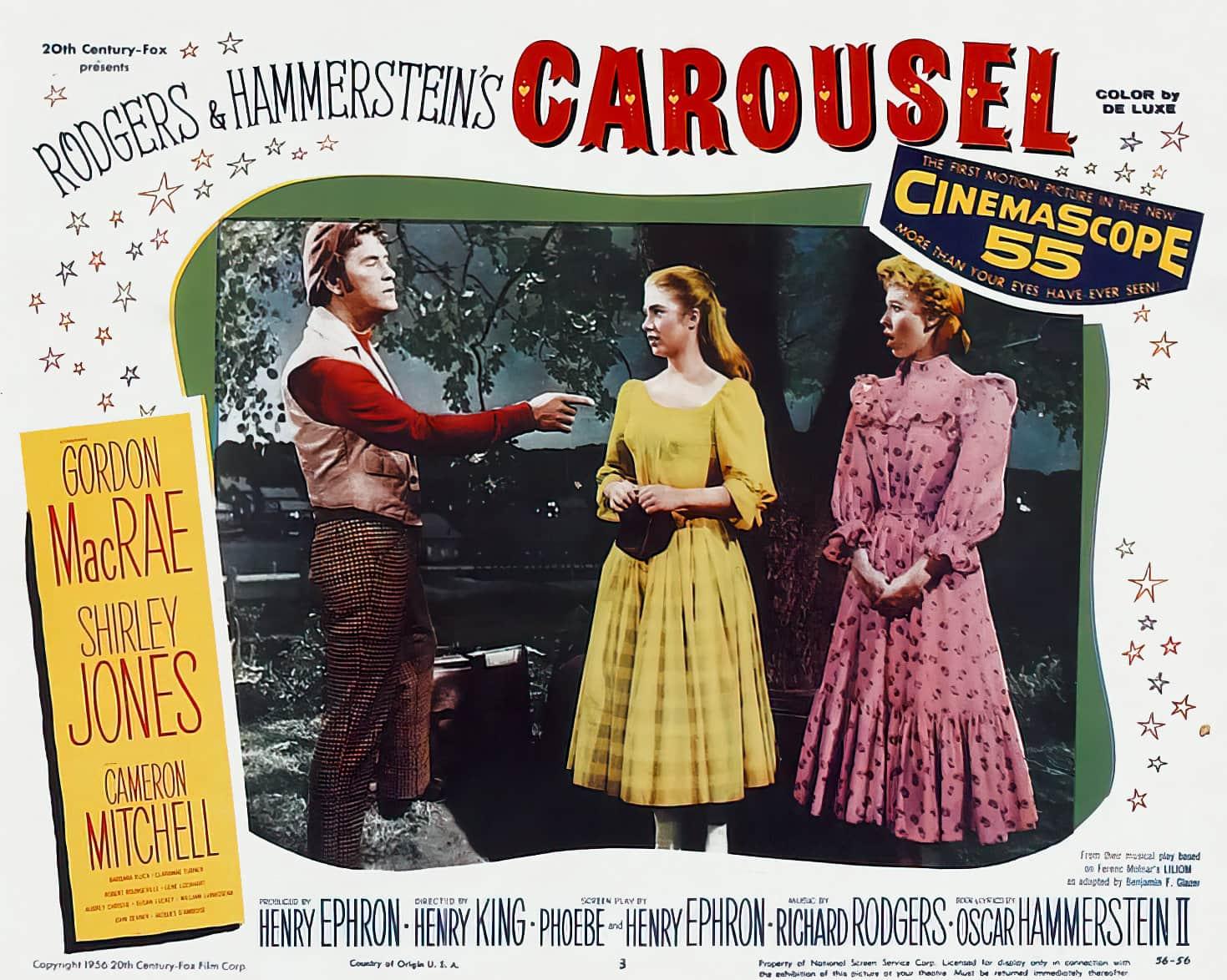 Vintage Carousel movie lobby card - 1950s (2)