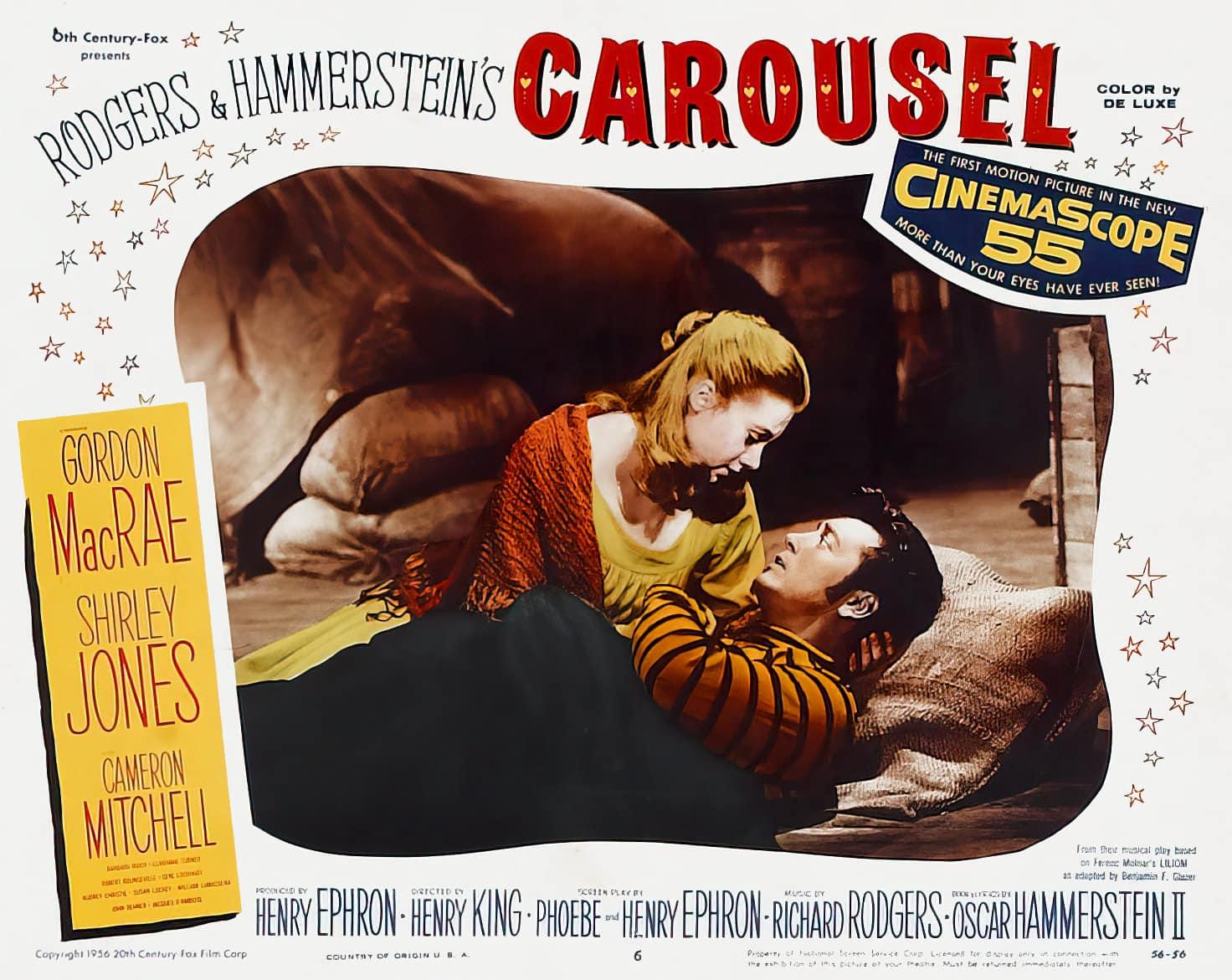 Vintage Carousel movie lobby card (1956)