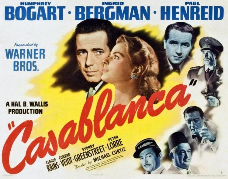 Vintage Casablanca movie poster - 1942