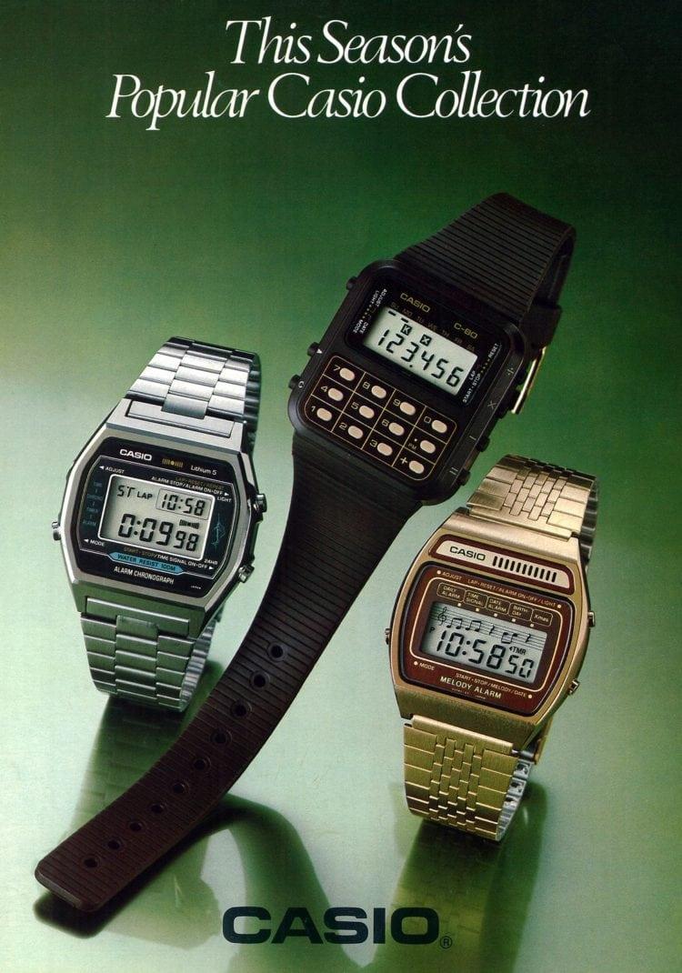 Vintage Casio digital watches 1980