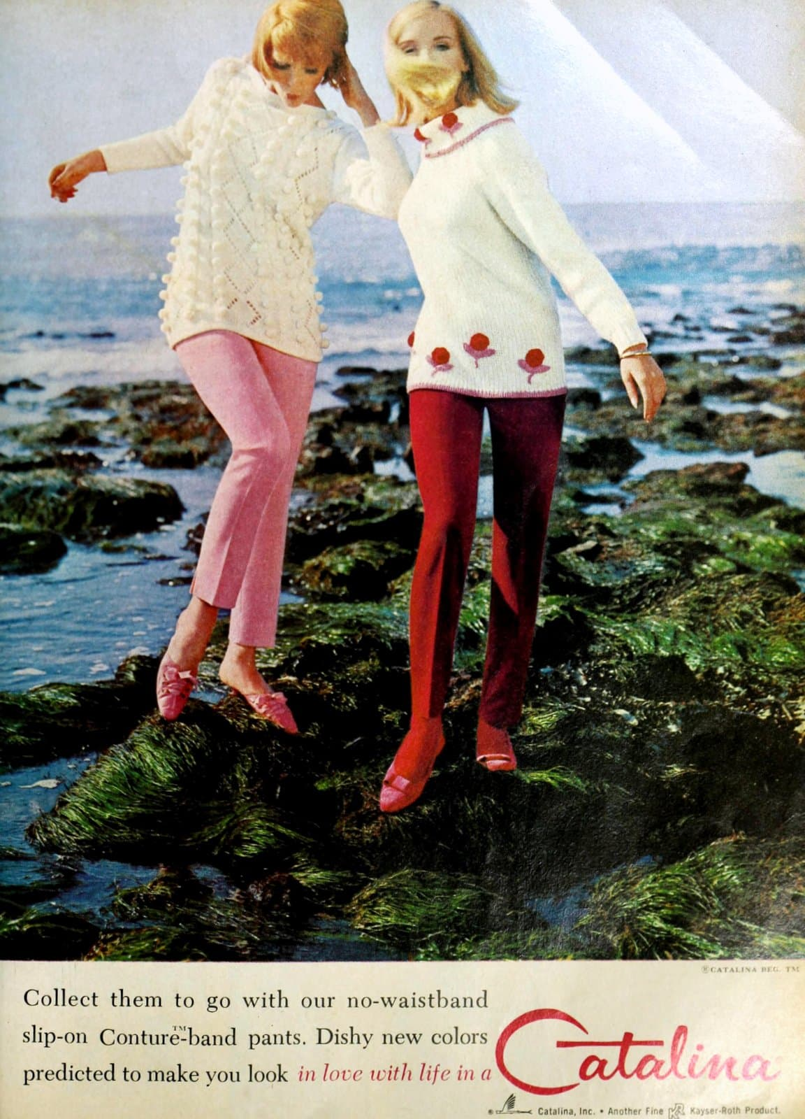 Vintage Catalina sweaters and slip-on pants (1965)