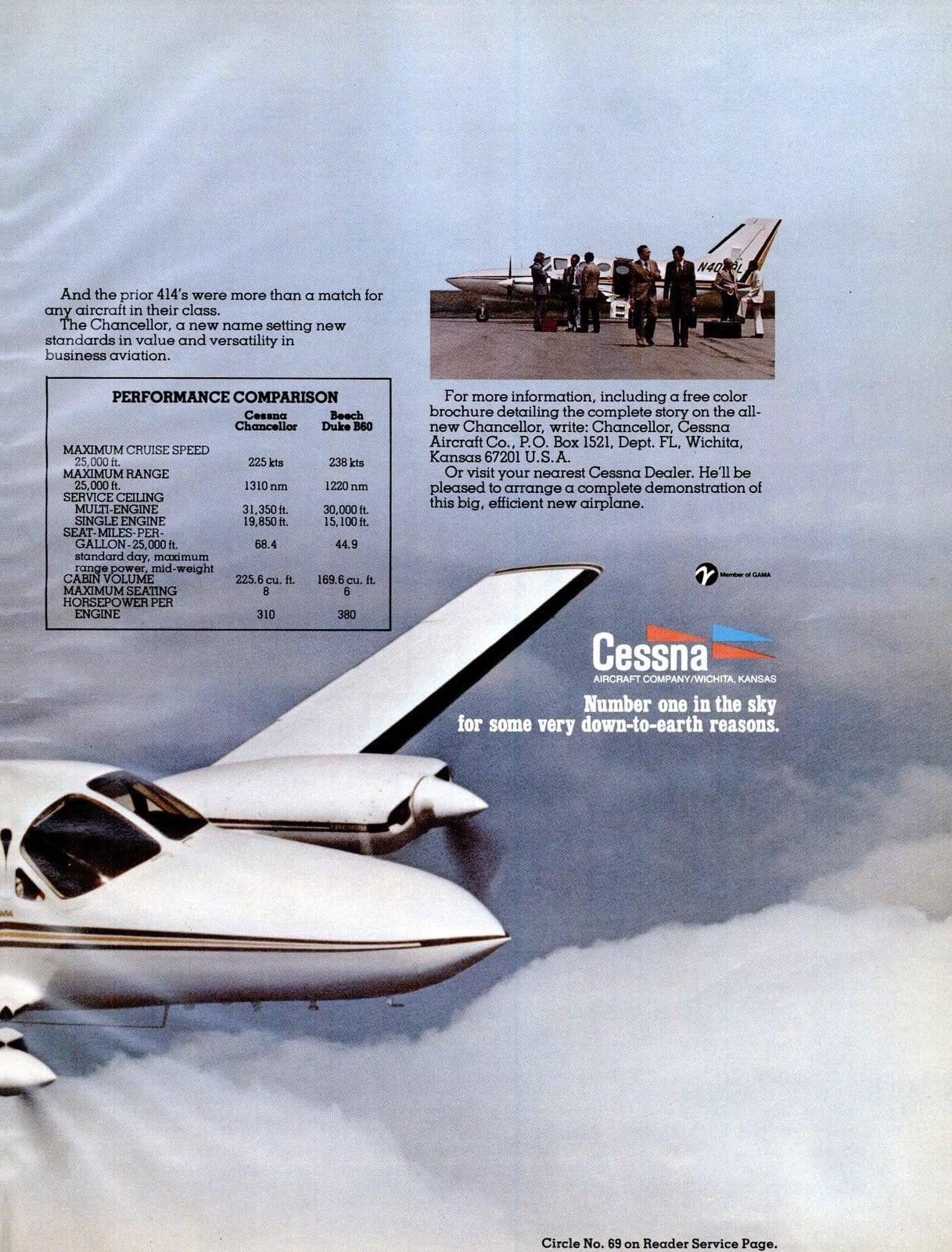 Vintage Cessna Chancellor aircraft (1977)