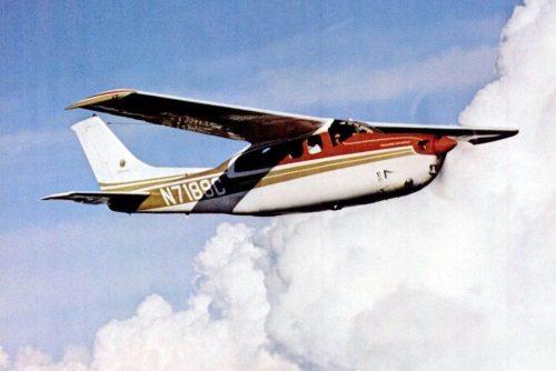 Vintage Cessna propeller planes