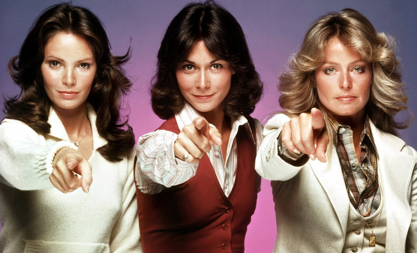 Vintage Charlie's Angels actresses pointing (1970s)