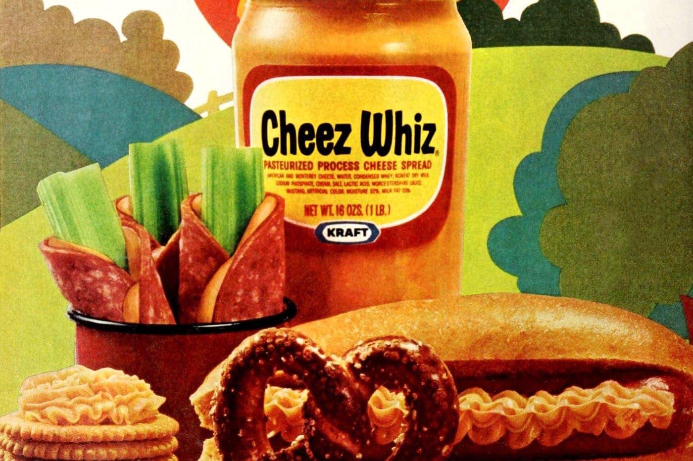 Vintage Cheez Whiz recipes