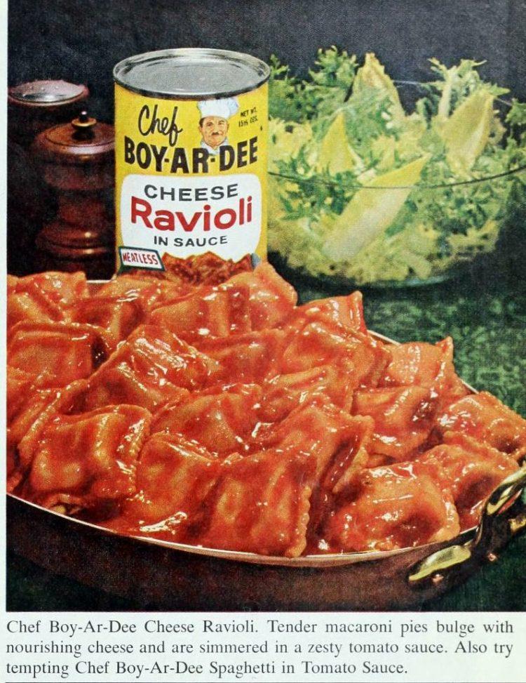 Vintage Chef Boy-Ar-Dee Cheese Ravioli - 1960s