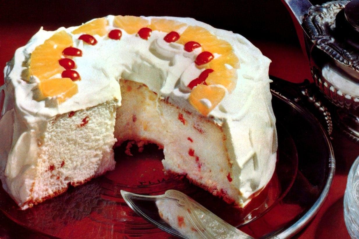 Vintage Cherry angel food cake (1953)