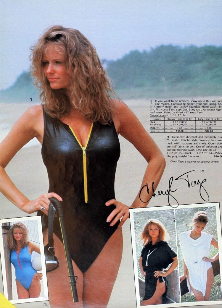 Vintage Cheryl Tiegs swimwear line for Sears 1983 (1)