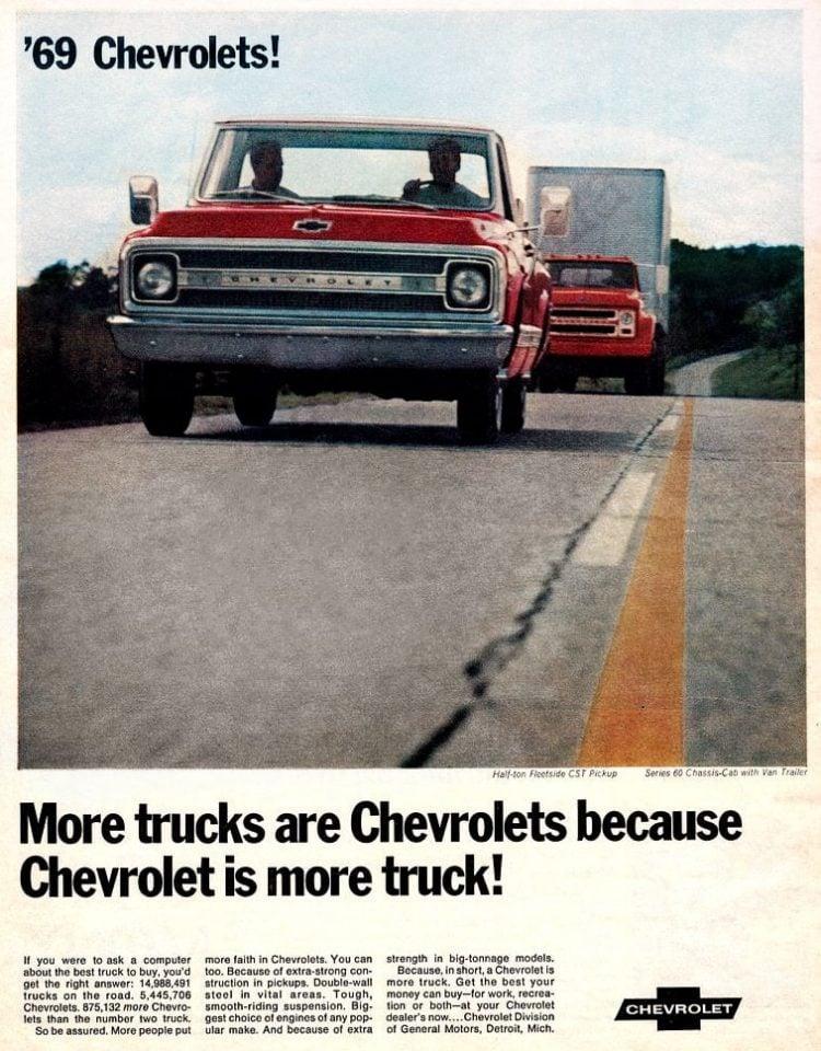 Vintage Chevrolet pickup truck for 1969