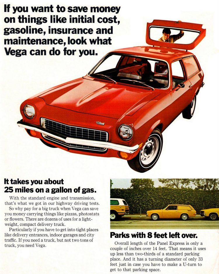 Vintage Chevy Vega Panel Express Truck 1972