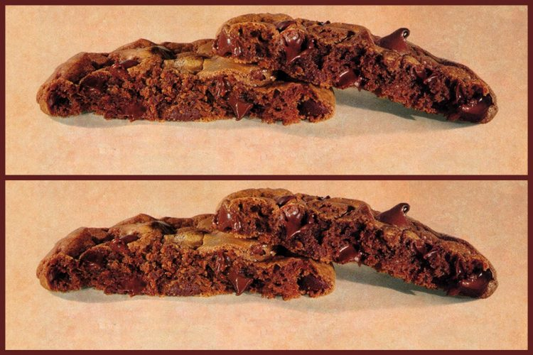 Vintage Chewy brownie cookies recipe (1995)