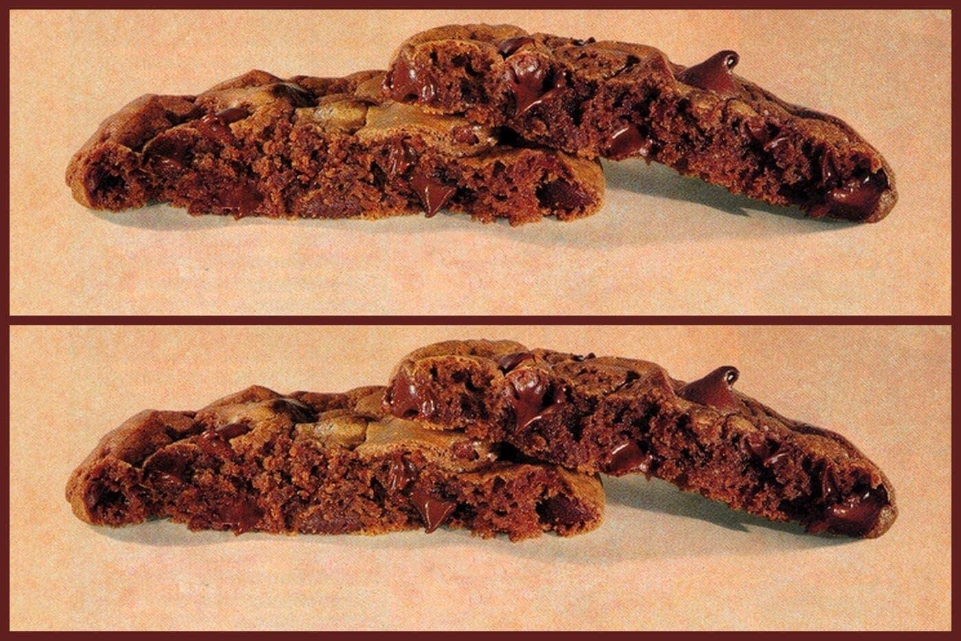 Vintage Chewy brownie cookies recipe (1995)