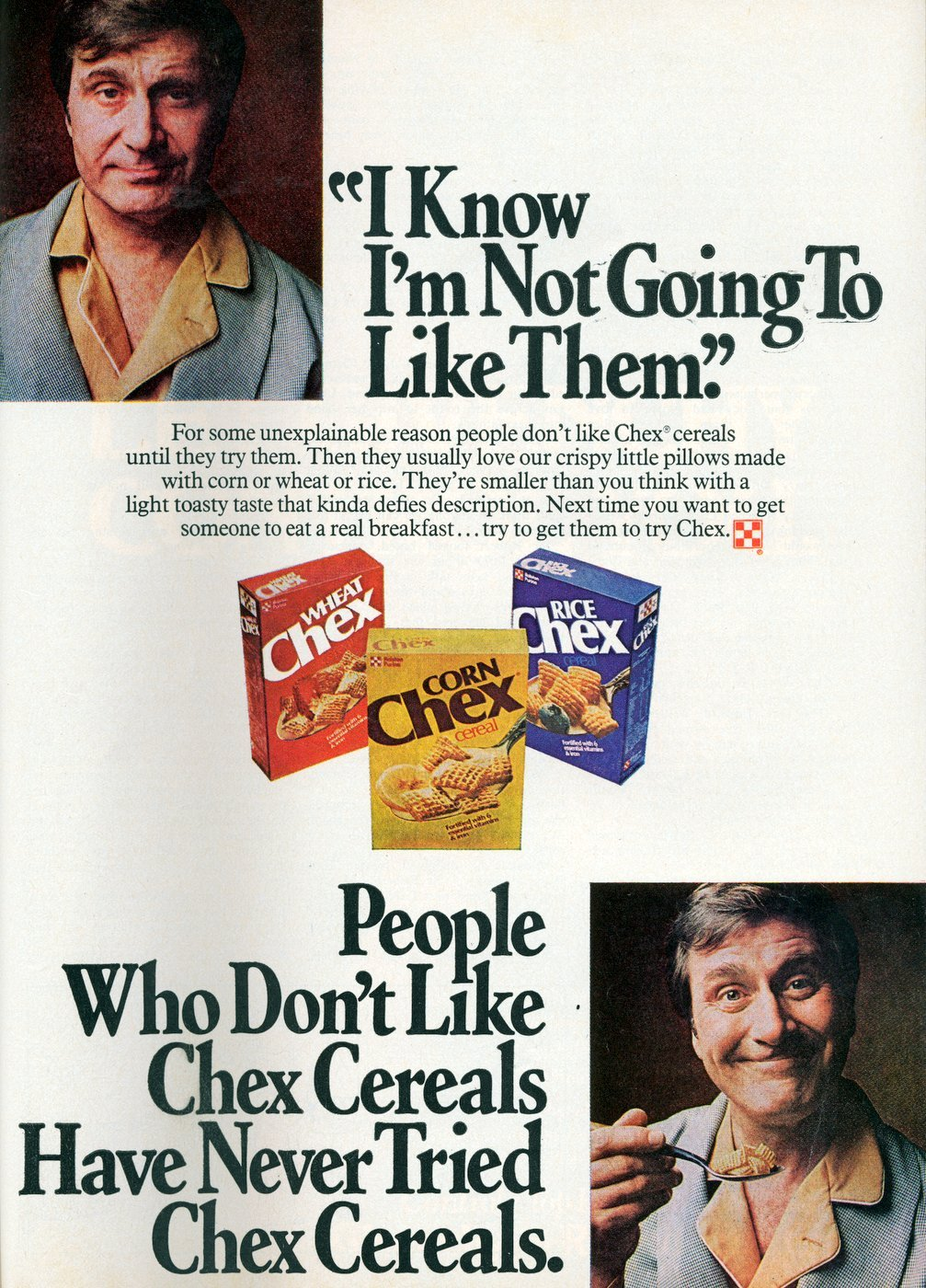 Vintage Chex cereals - Wheat - Rice - Corn (1978)
