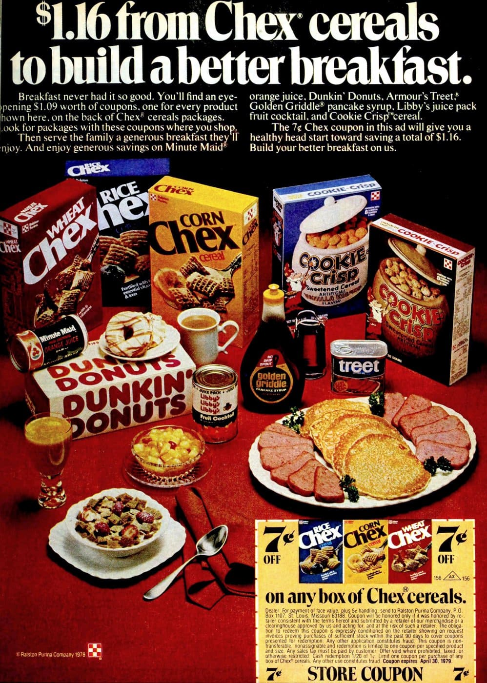 Vintage Chex cereals from 1978 - Plus Cookie Crisp