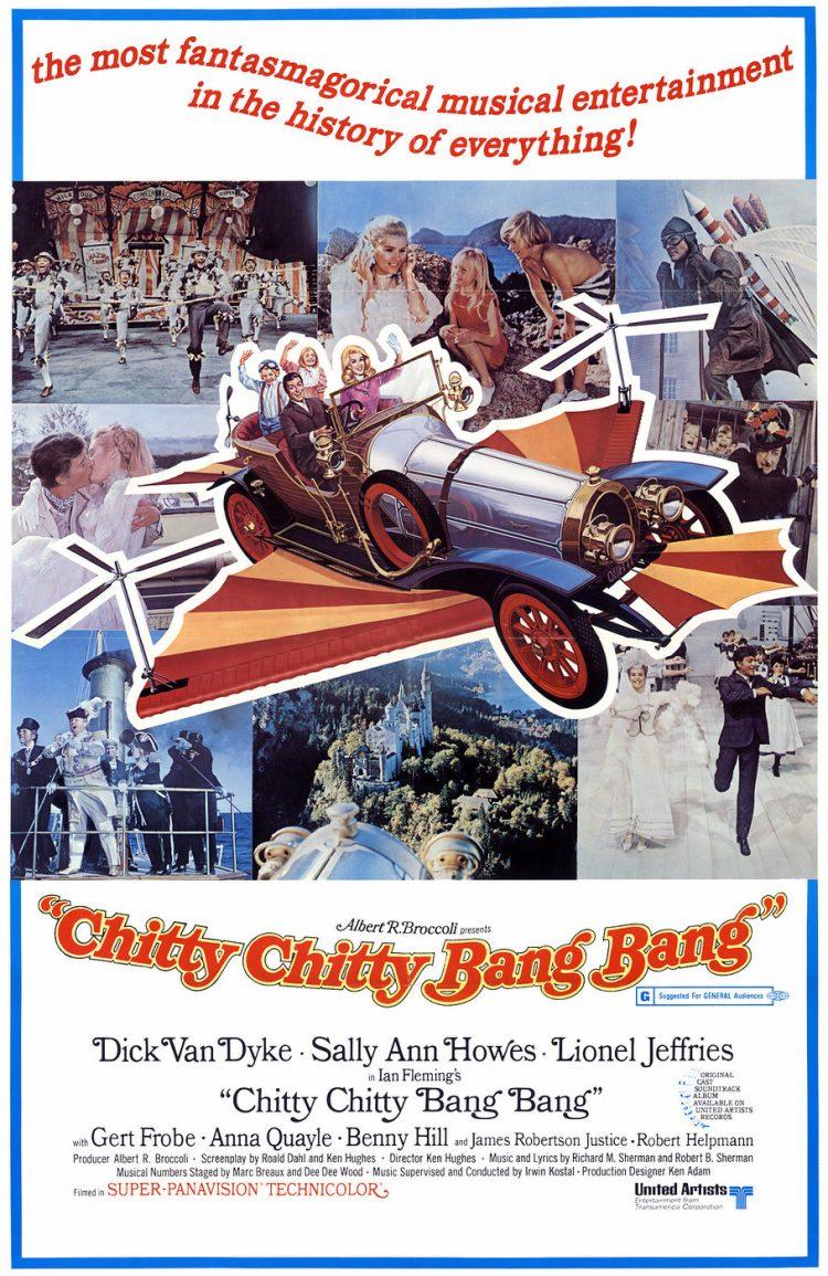 Vintage Chitty Chitty Bang Bang movie poster