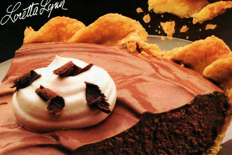 Vintage Chocolate Angel Pie recipe (1985)