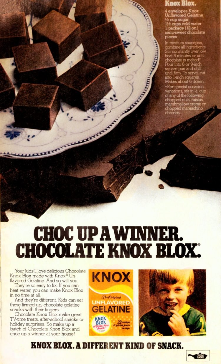 Vintage Chocolate Knox Blox recipe