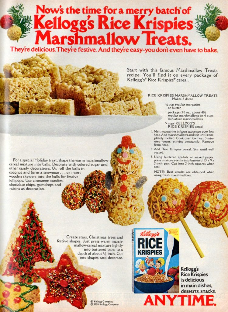 Vintage Christmas Rice Krispies Treats