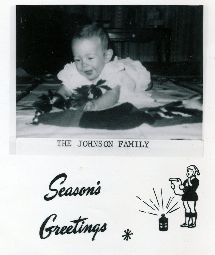 Vintage Christmas card from the Johnson Family