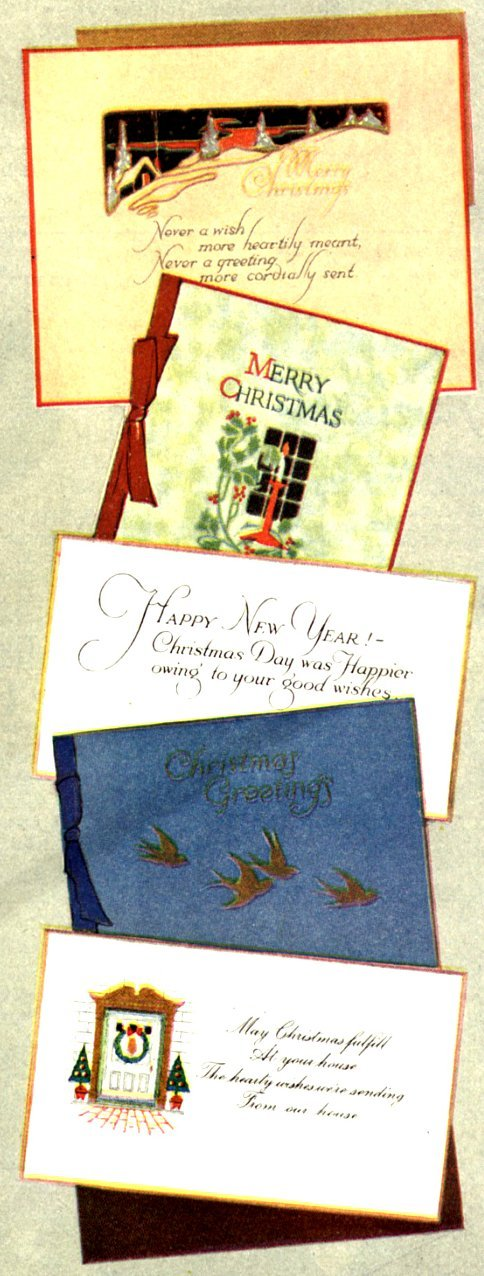 Vintage Christmas cards (1916)