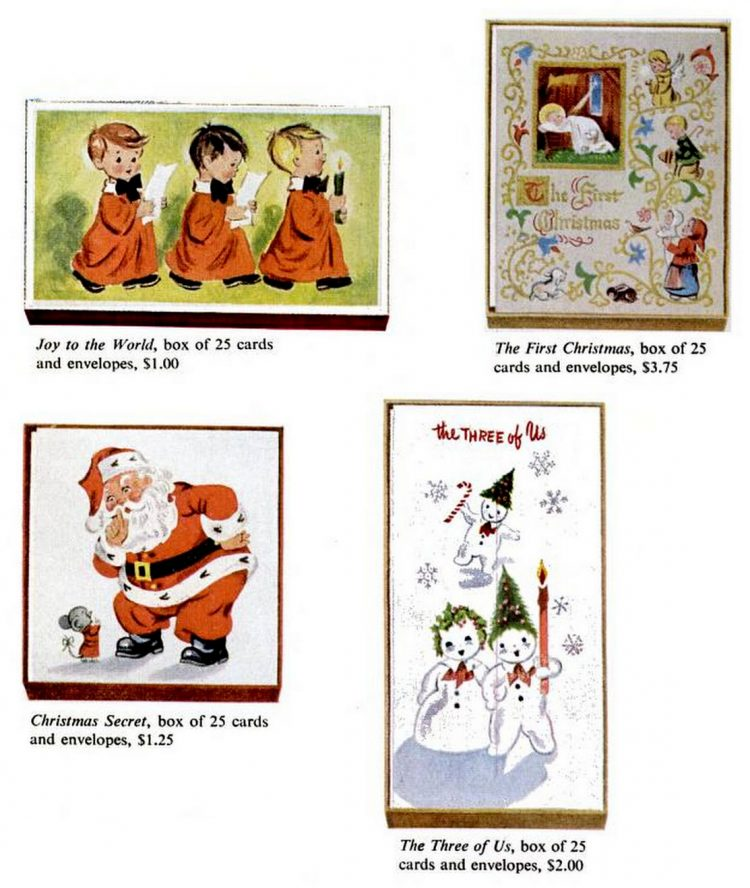 Vintage Christmas cards from 1957 (3)