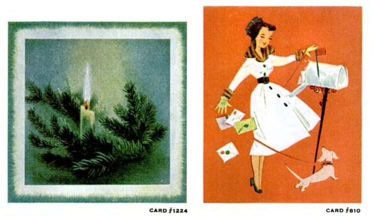 Vintage Christmas cards from 1957 (8)