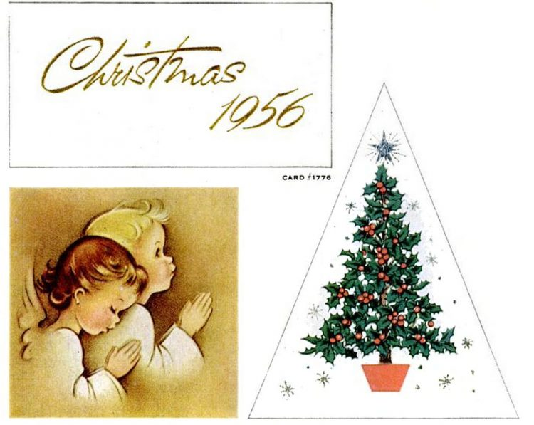 Vintage Christmas cards from 1957 (9)