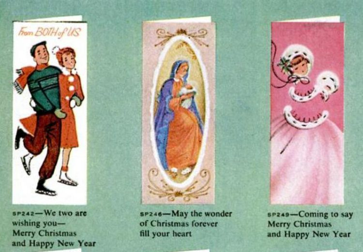 Vintage Christmas cards from 1959 (1)