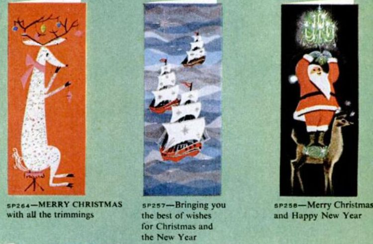 Vintage Christmas cards from 1959 (3)