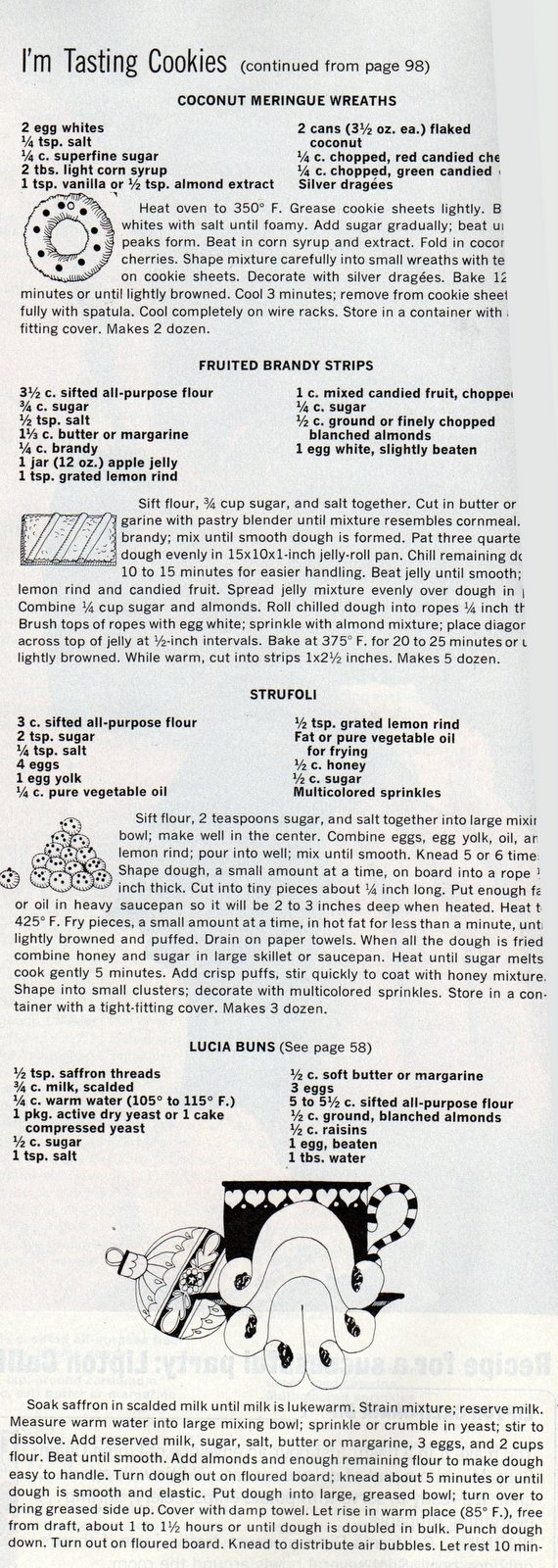 Vintage Christmas cookie recipes from 1966 (2)