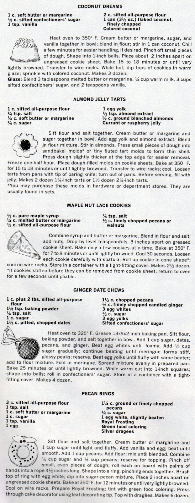 Vintage Christmas cookie recipes from 1966 (3)