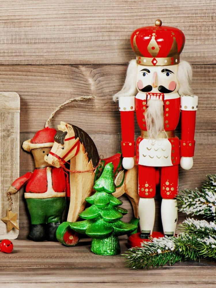 Vintage Christmas decorations - Nutcracker and ornaments