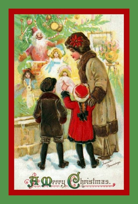 Vintage Christmas postcards - Christmas gifts for kids