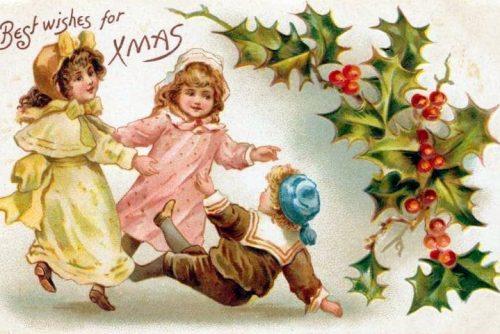 Vintage Christmas postcards - children (2)