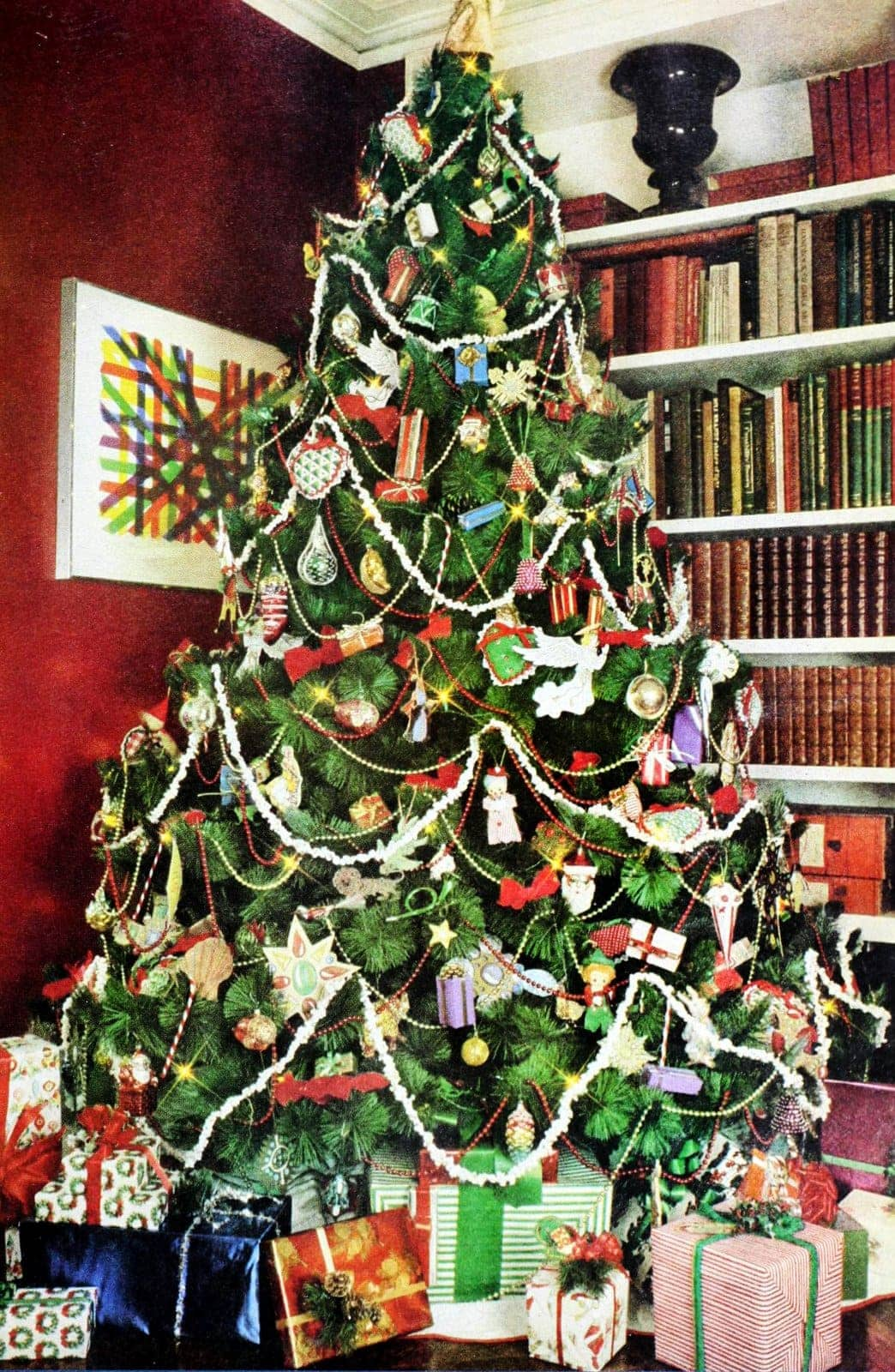 Decorating Christmas trees in the