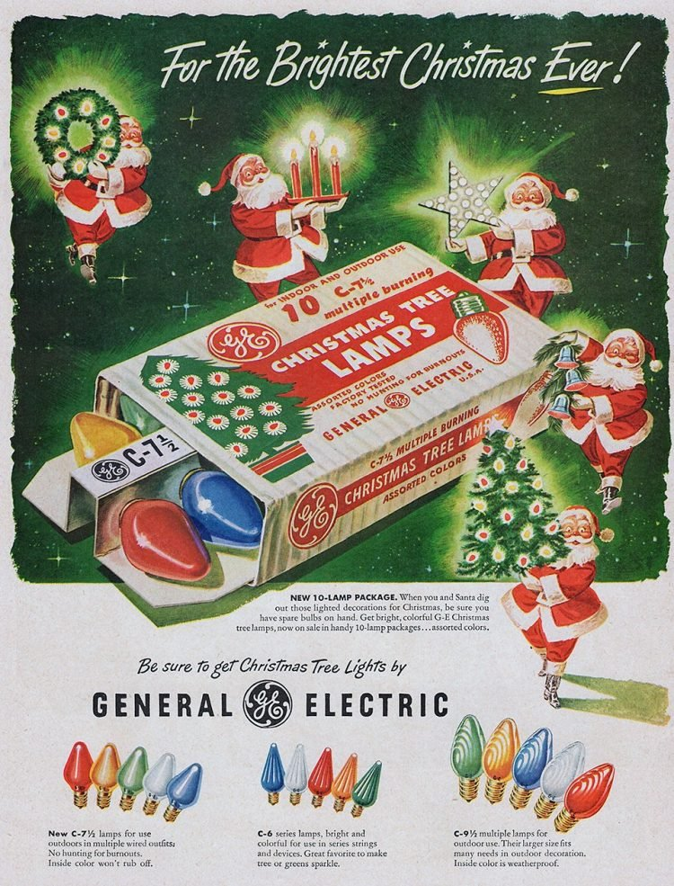Vintage Christmas tree lights