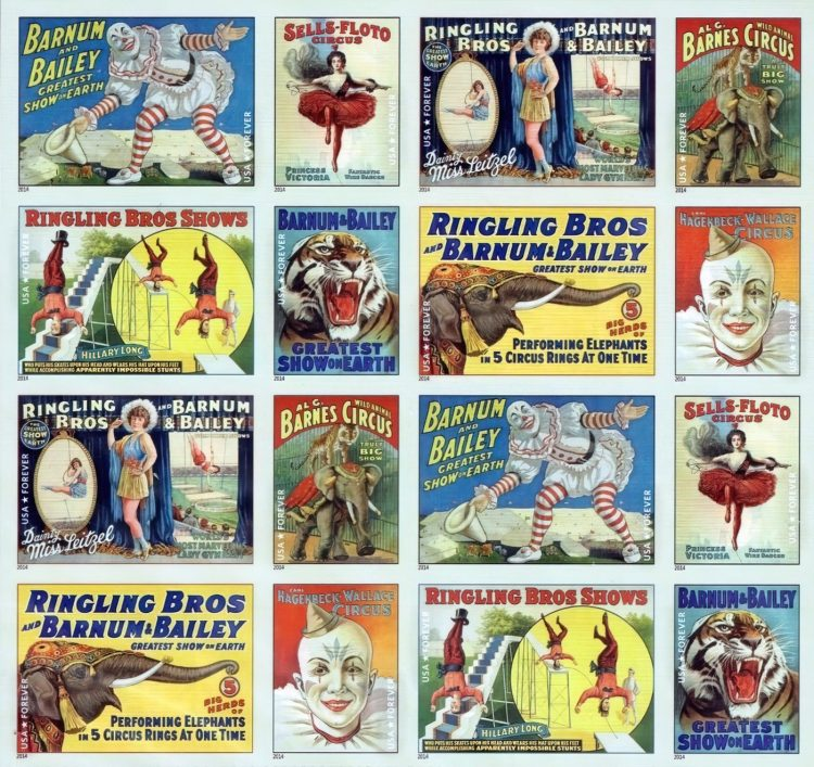 Vintage Circus posters - assorted