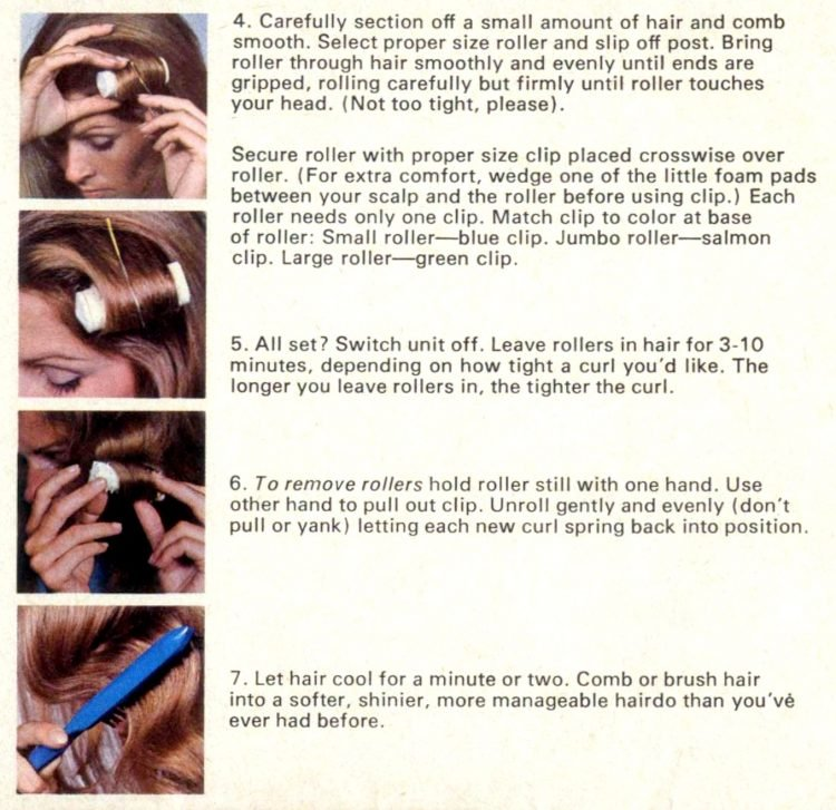 Vintage Clairol Hairsetter instructions (1)