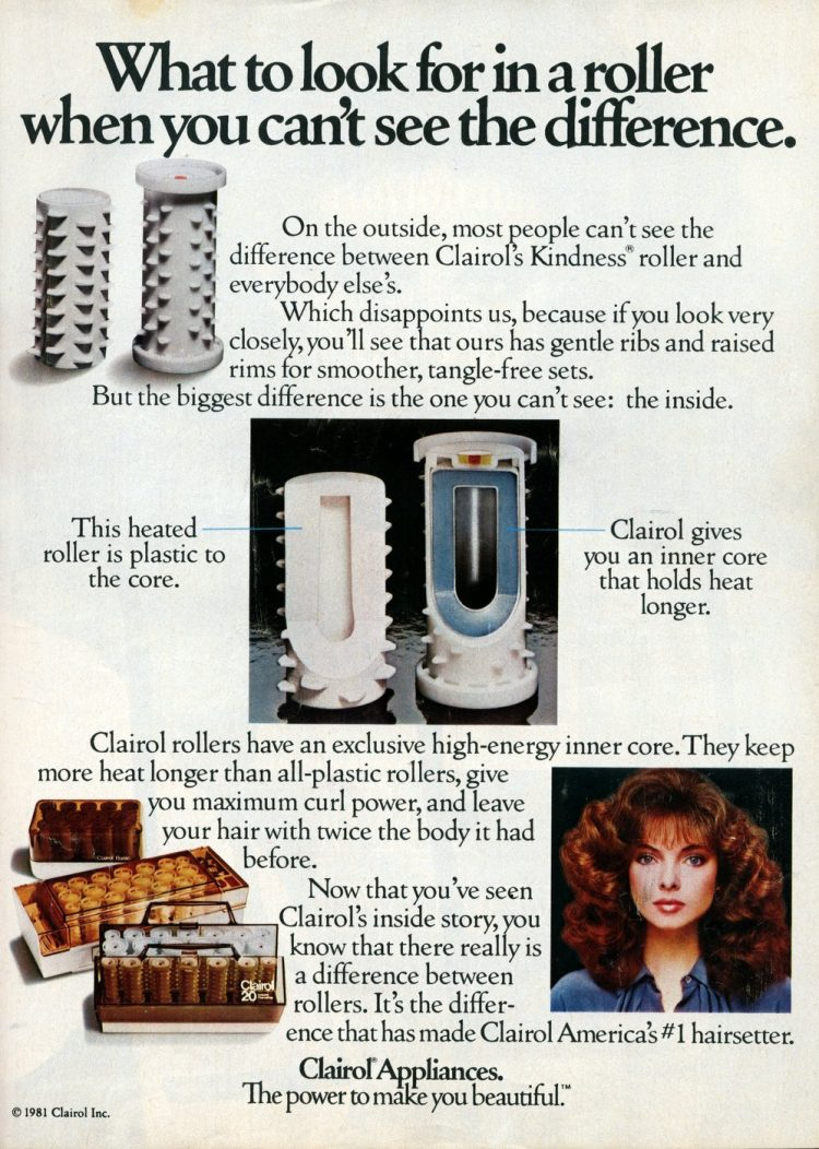 Vintage Clairol Kindness hot rollers from 1982