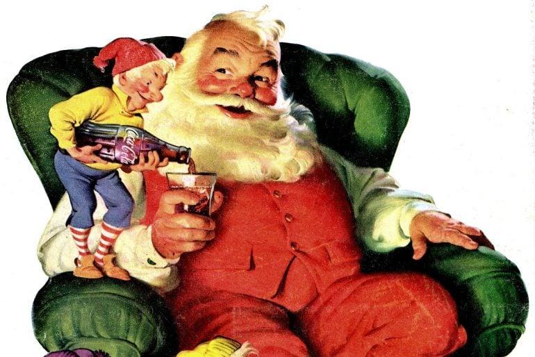 Vintage Coca-Cola Christmas ads, starring Santa (1931-1963)