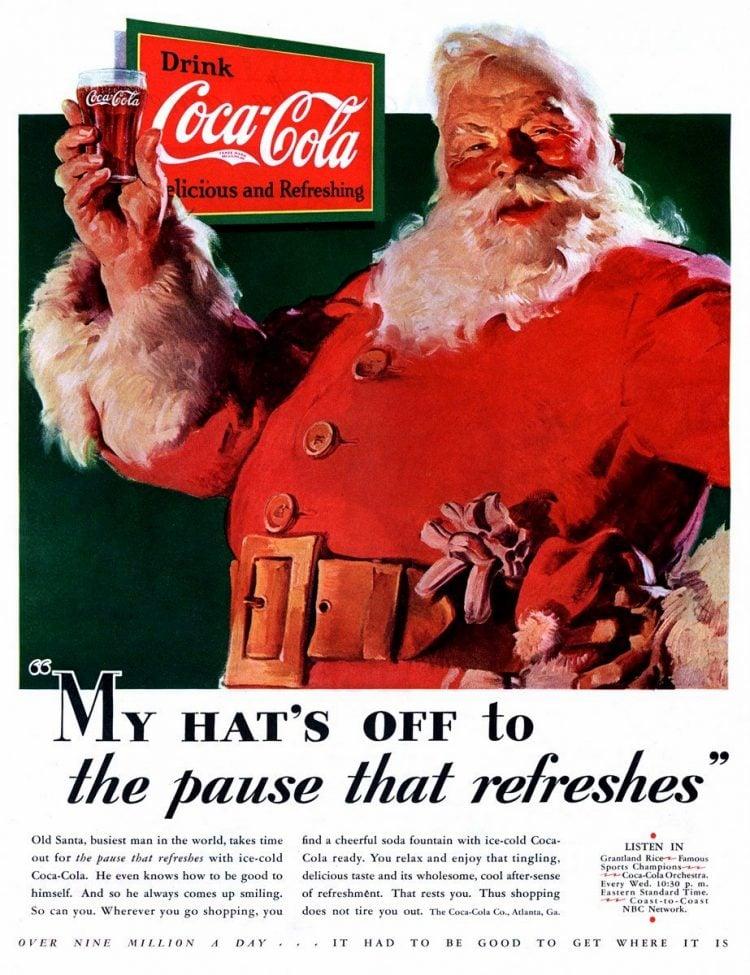 Vintage Coca Cola Santa from 1931