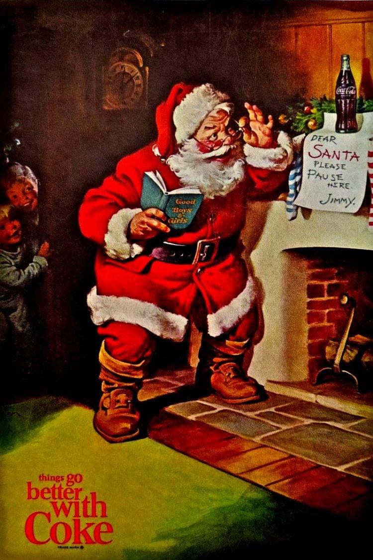 Vintage Coca Cola Santa from 1963