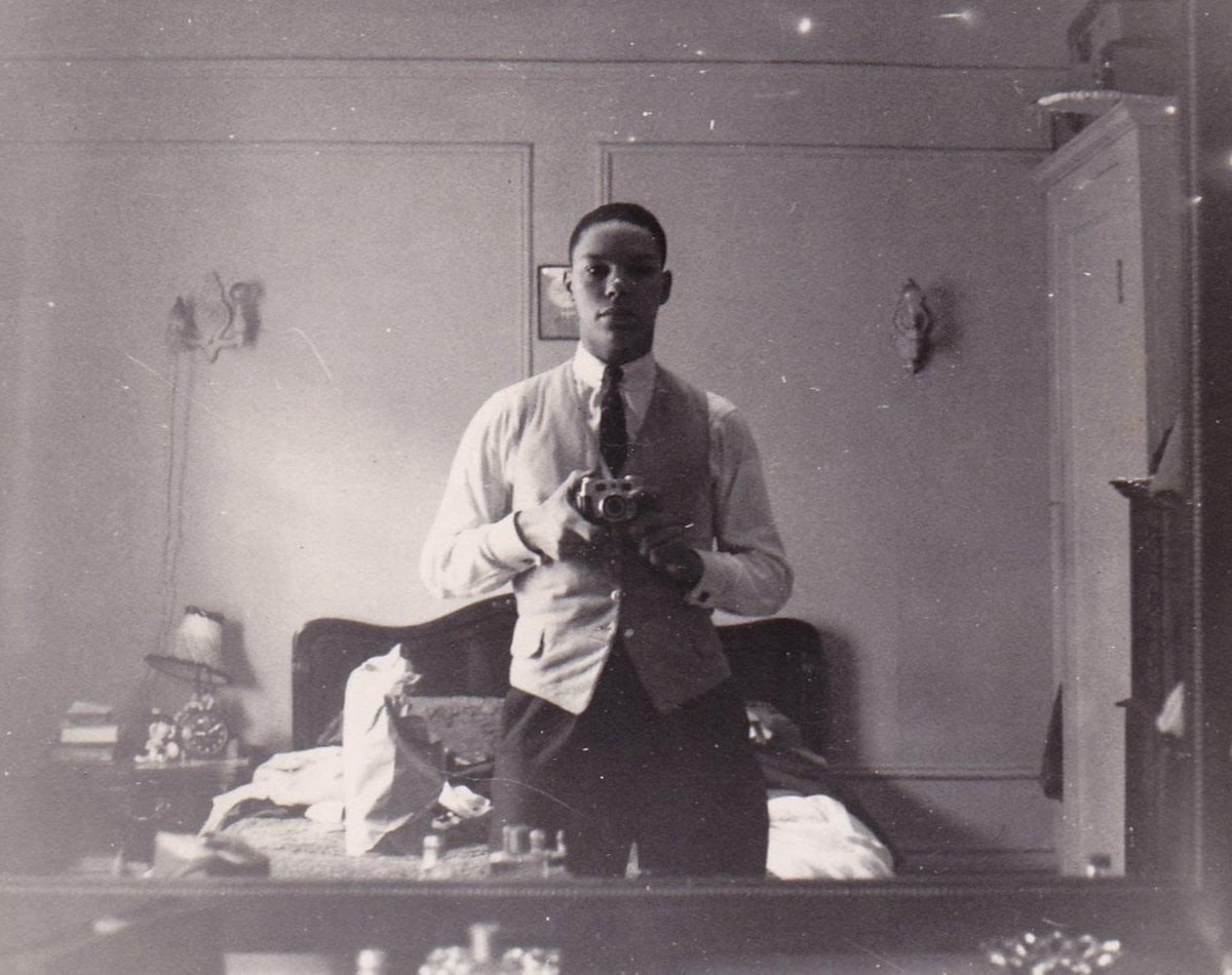 Vintage Colin Powell selfie c1954 at ClickAmericana com