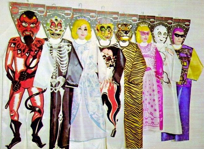 Vintage Collegeville costumes and masks from 1960s