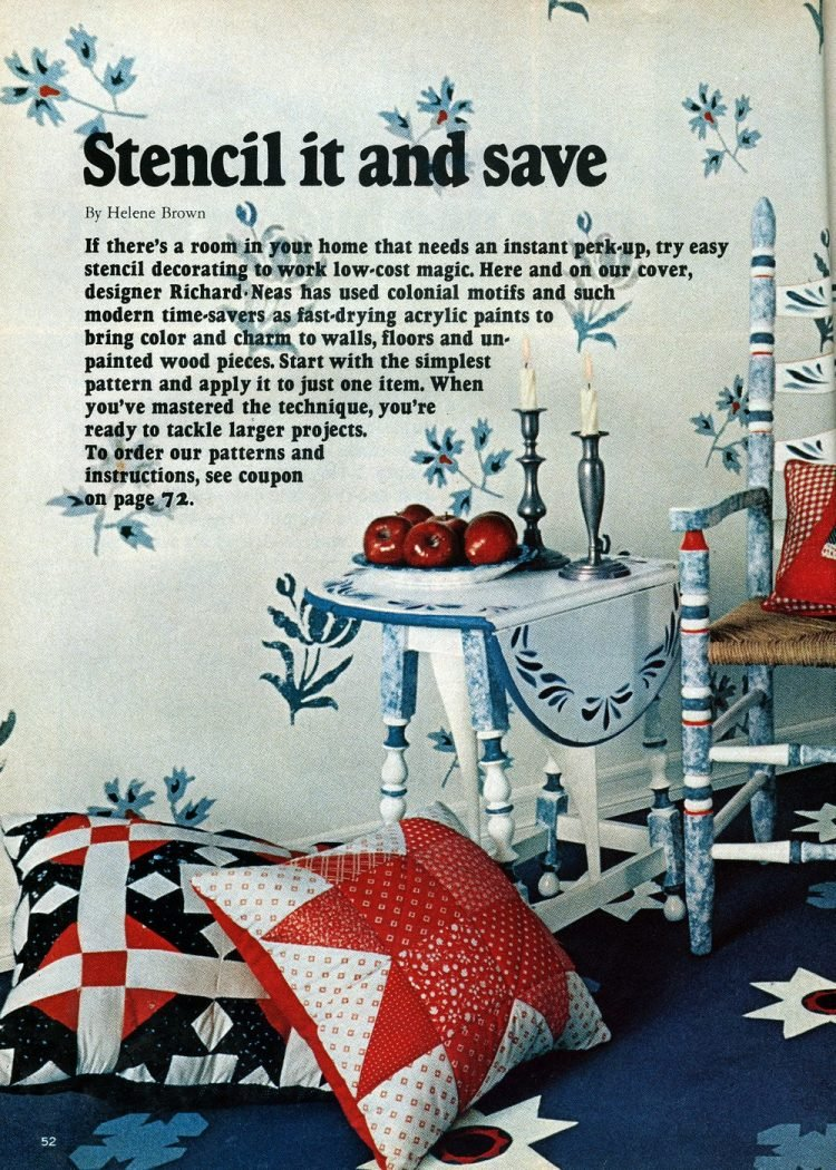 Vintage Colonial stenciling inspiration in 1975 (2)