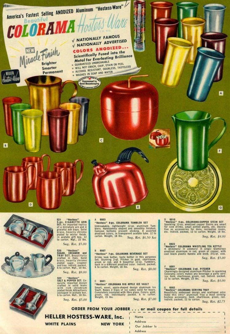 Vintage Colorama aluminum kitchenware
