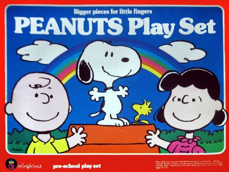 Vintage Colorforms - Peanuts preschool play set