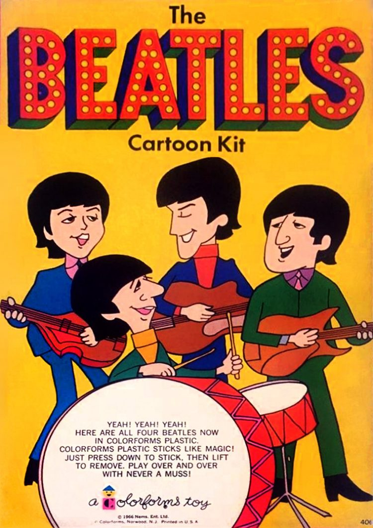 Vintage Colorforms - The Beatles cartoon kit 1966